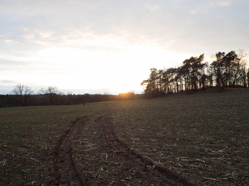 leicht überbelichteter Sonnenuntergang