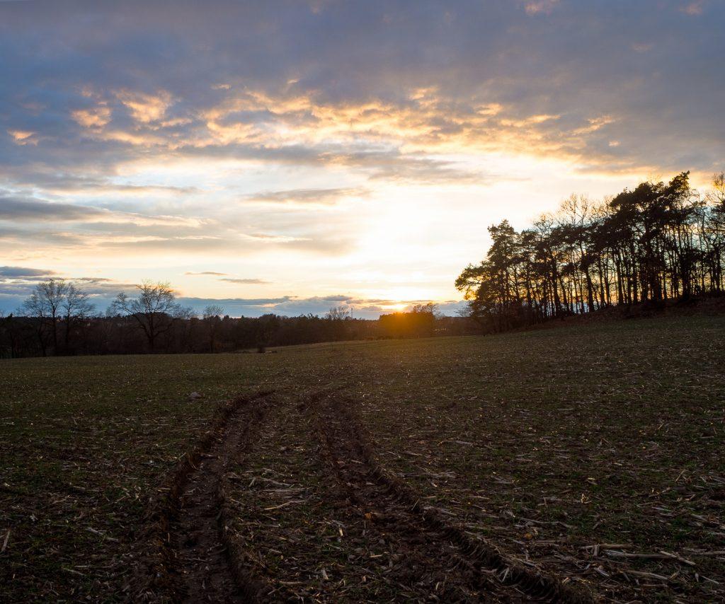 über Luminosity Masken erstellter Sonnenuntergang