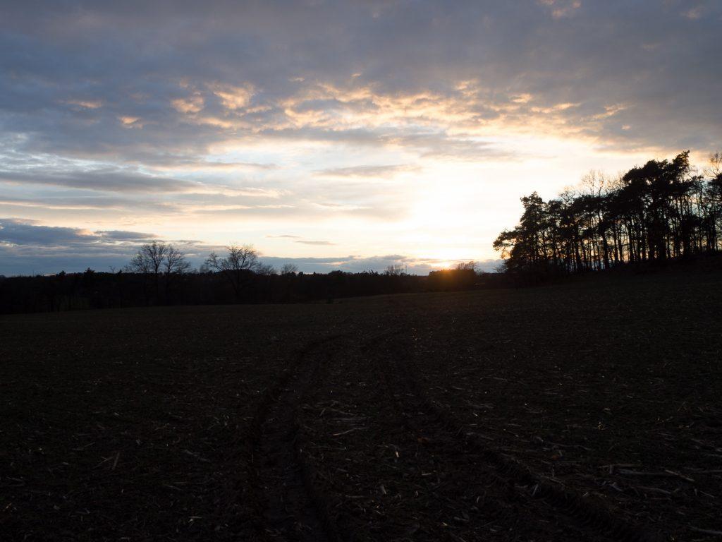 leicht unterbelichteter Sonnenuntergang