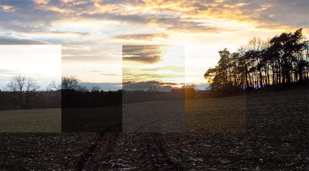 Sonneuntergang - der Dynamikumfang des Olympus-Sensors